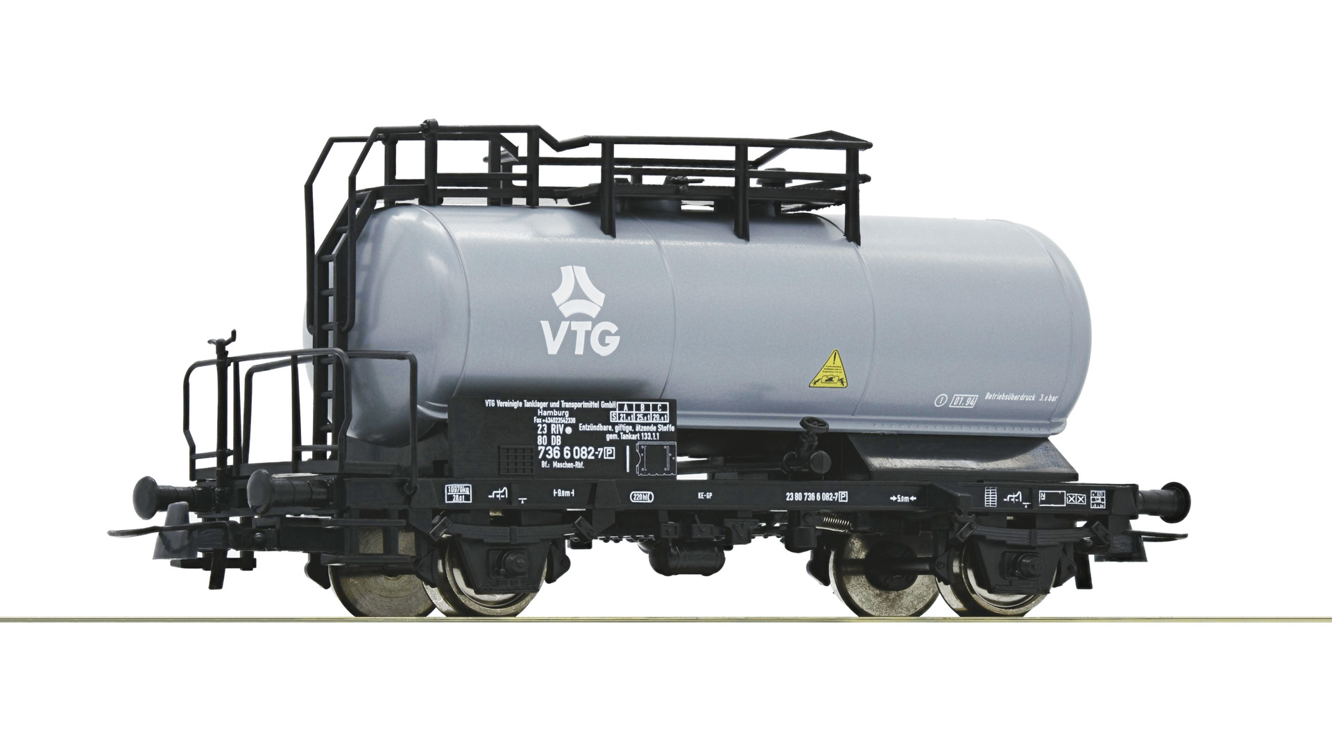 Roco 56340 H0 Kesselwagen VTG grau  Ep 4