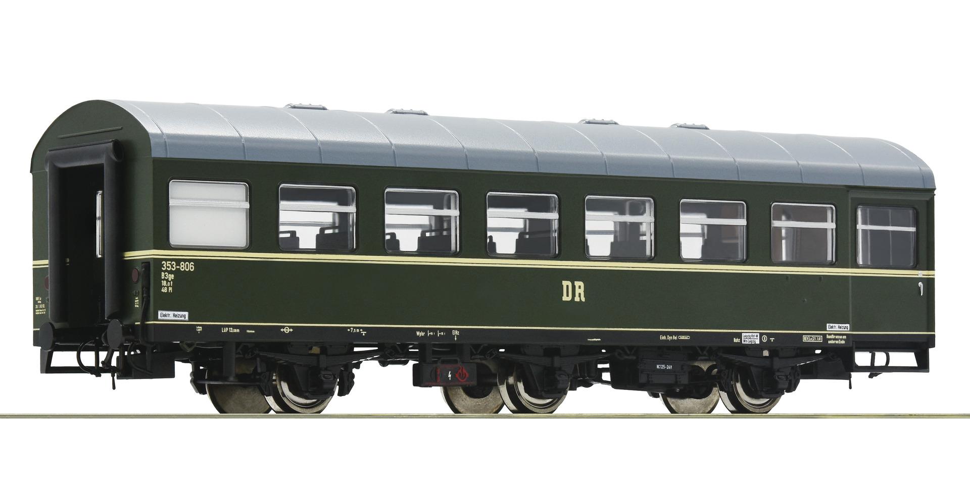 Roco 74458  Rekowagen 3a. Sitzwagen DR DC
