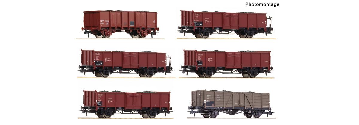 Roco aus 75945 H0 6-tlg. Display: Kokstransport, DB, CFL, SNCF