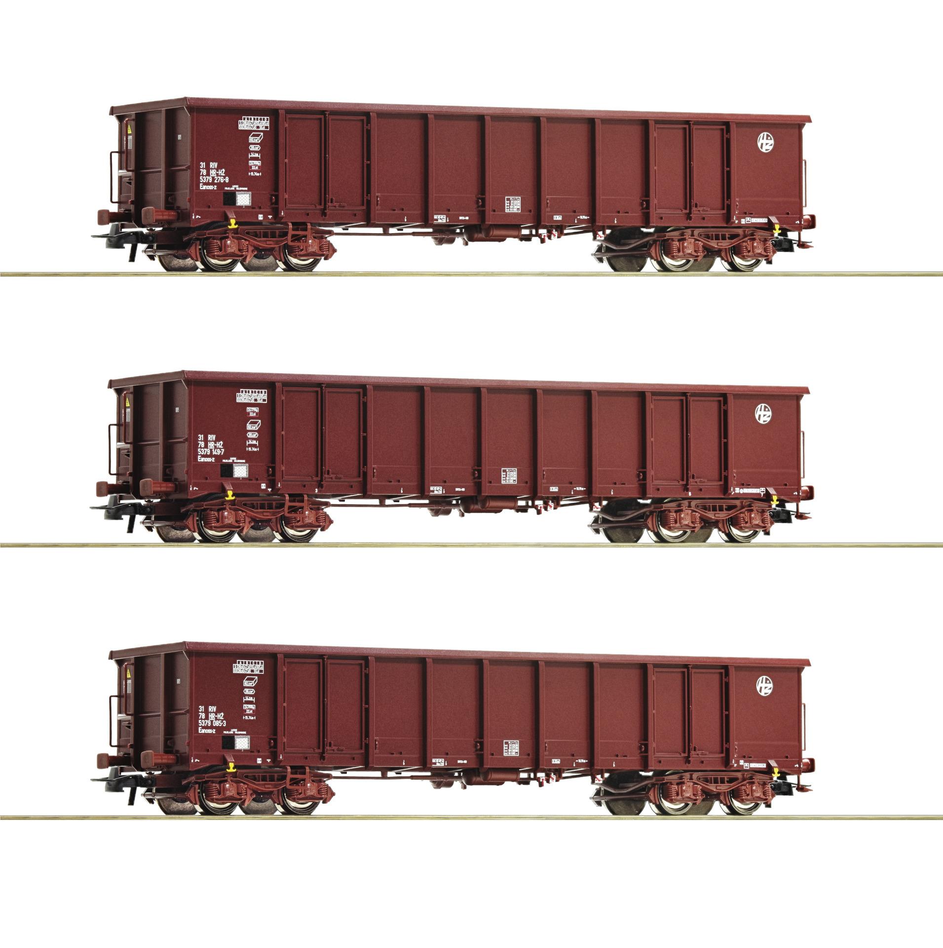 Roco 76091 H0 3er Set Eanos HZ Cargo EP VI DC