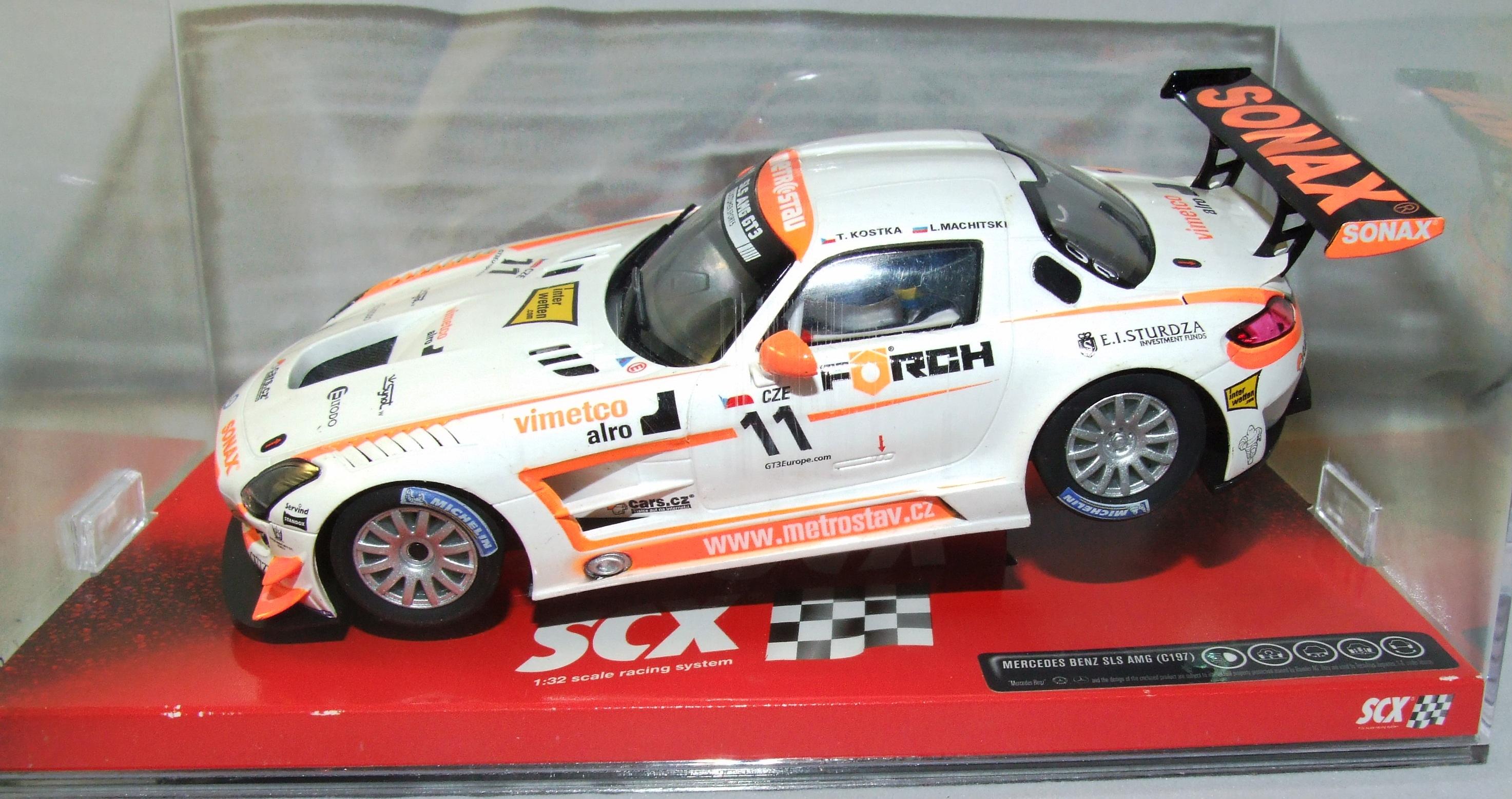 SCX 10A10071X300 Mercedes SLS GT3 Sonax 1:32 analog NEU & OVP