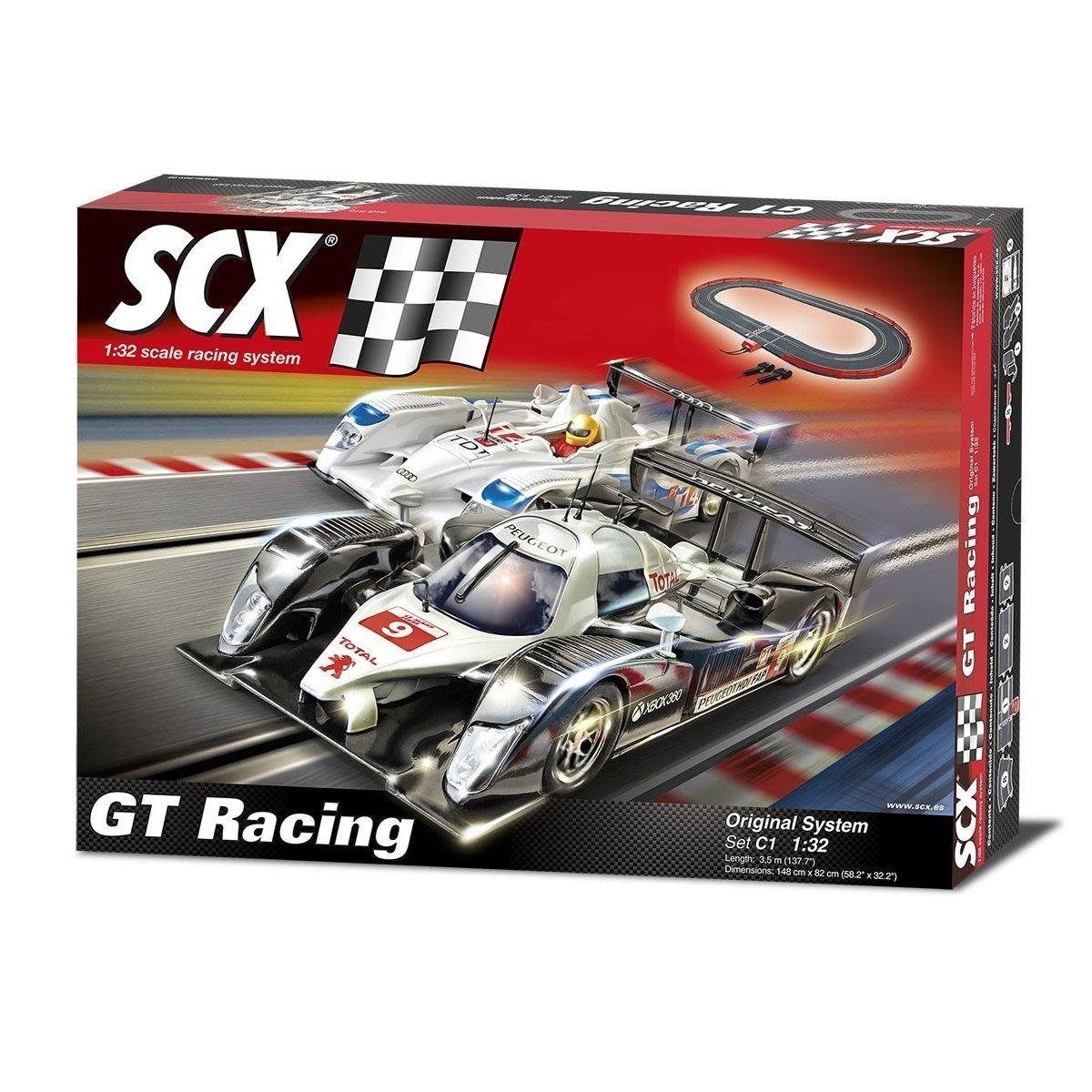 SCX A10111 X 500 – C1 GT Racing – Analog Komplettbahn 1:32