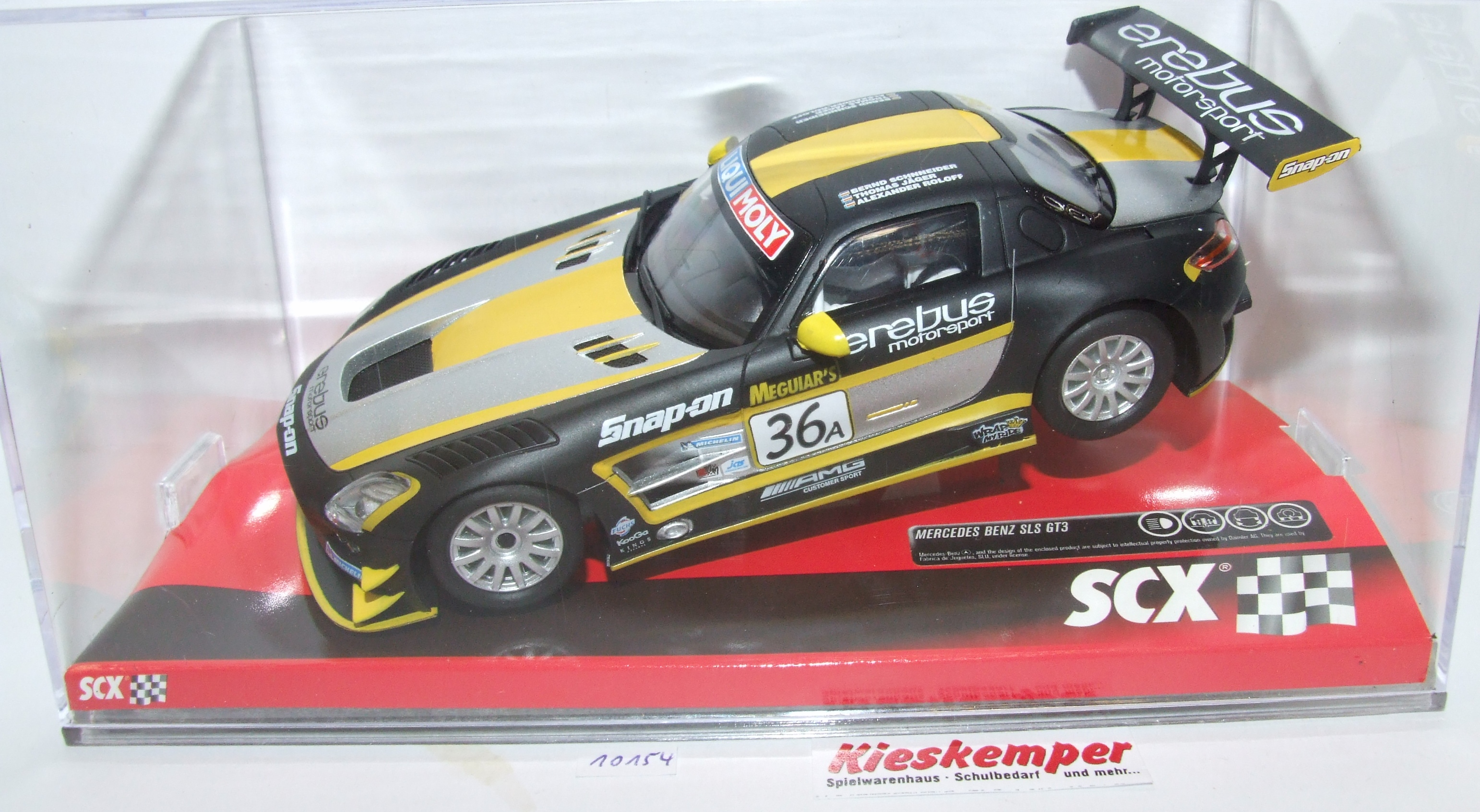 SCX 10A10154 Mercedes Benz SLS GT3 Erebus 1:32 analog NEU & OVP