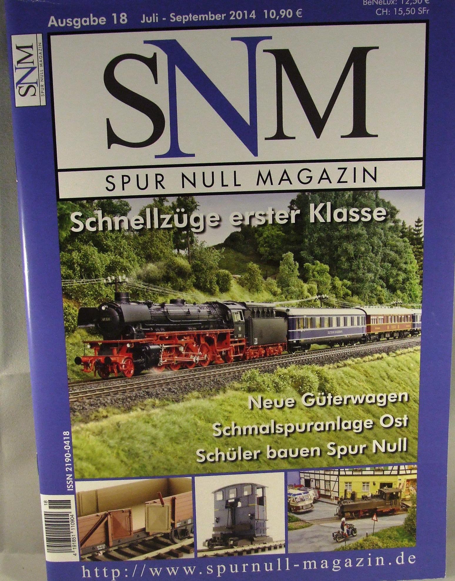 Einzelheft Ausgabe 18 Juli - September 2014 Spur Null Magazin