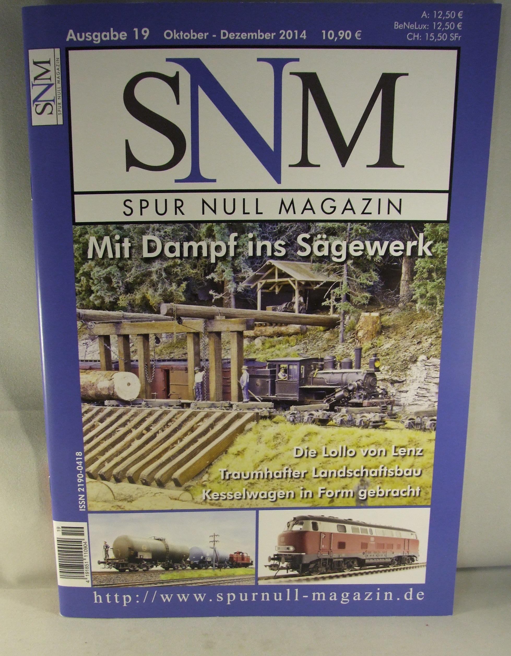 Einzelheft Ausgabe 19 Oktober - Dezember  2014 Spur Null Magazin