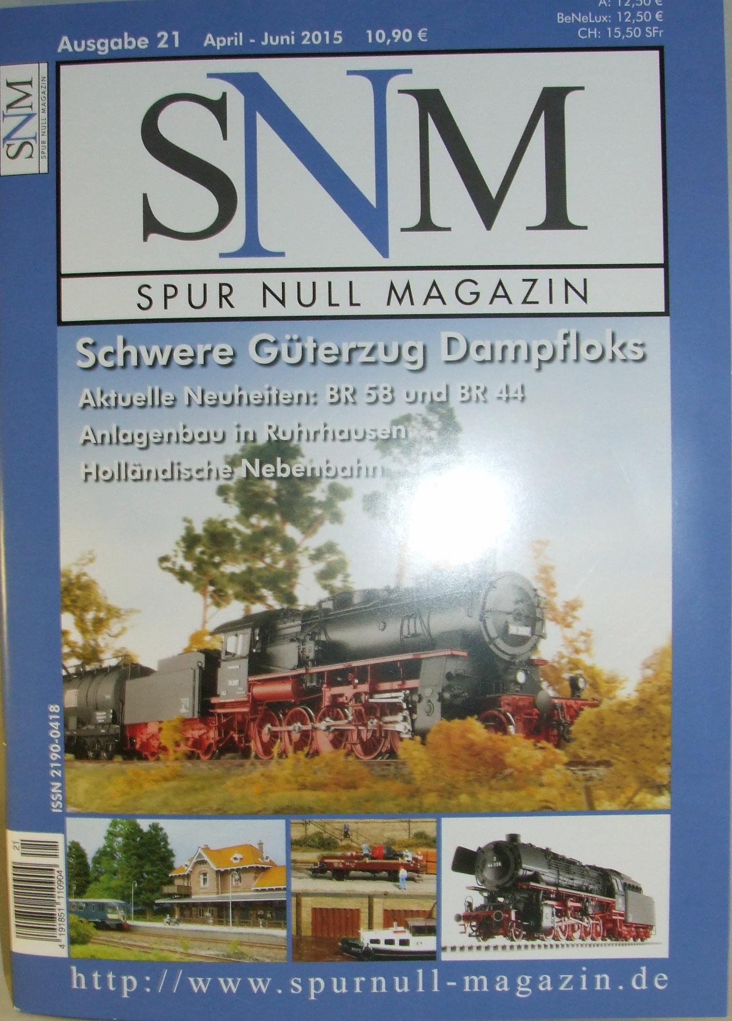 Einzelheft Ausgabe 21 April - Juni 2015 Spur Null Magazin