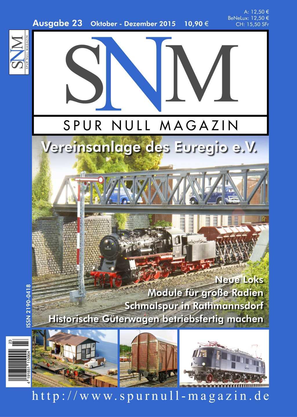Einzelheft Ausgabe 23 Oktober - Dezember 2015 Spur Null Magazin