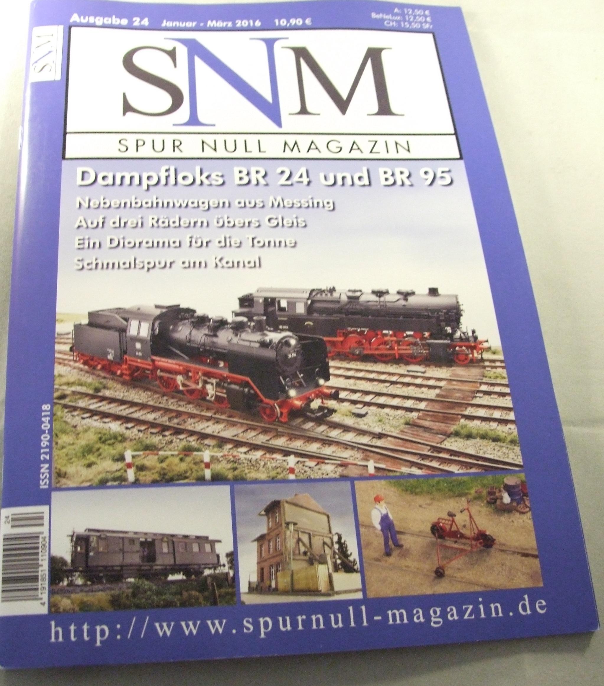 Einzelheft Ausgabe 24 Januar - März  2016 Spur Null Magazin