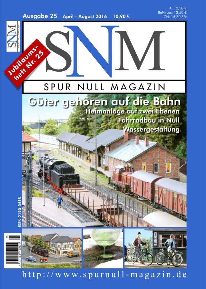 Einzelheft Ausgabe 25 April - August  2016 Spur Null Magazin