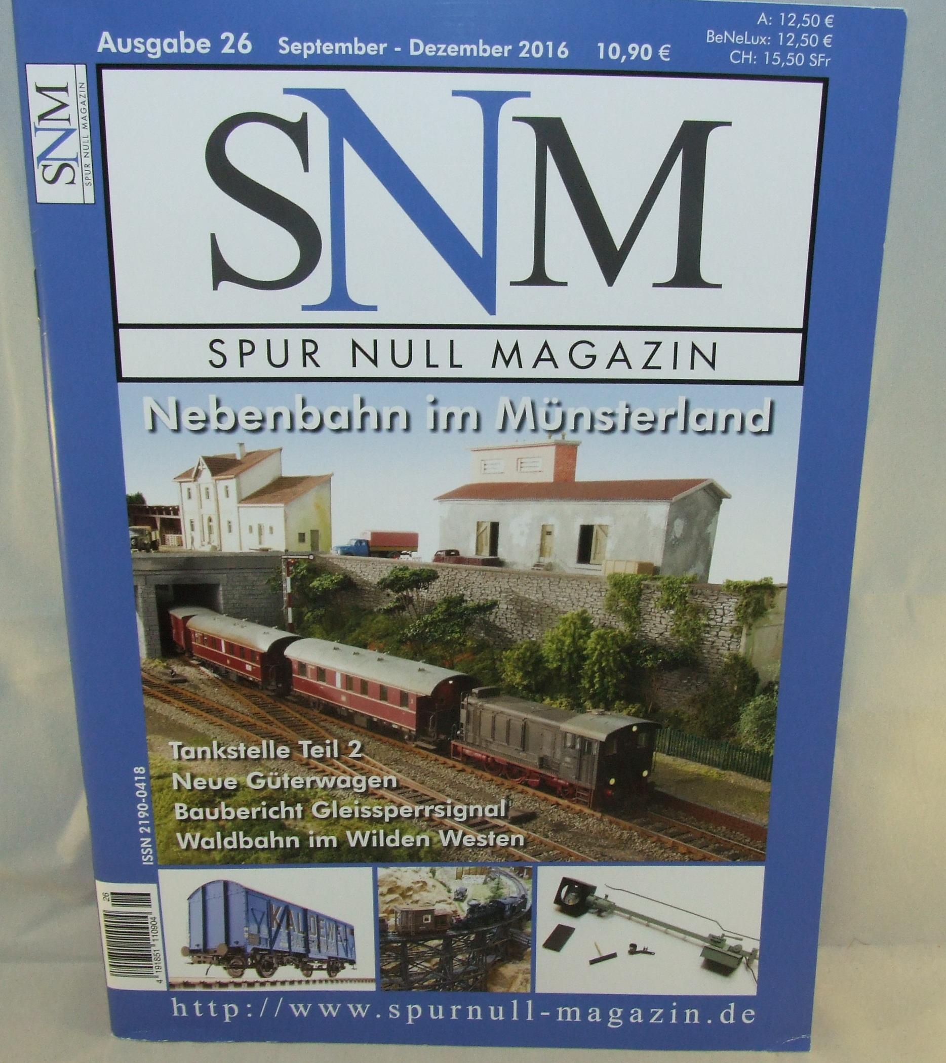 Einzelheft Ausgabe 26 September - Dezember  2016 Spur Null Magazin