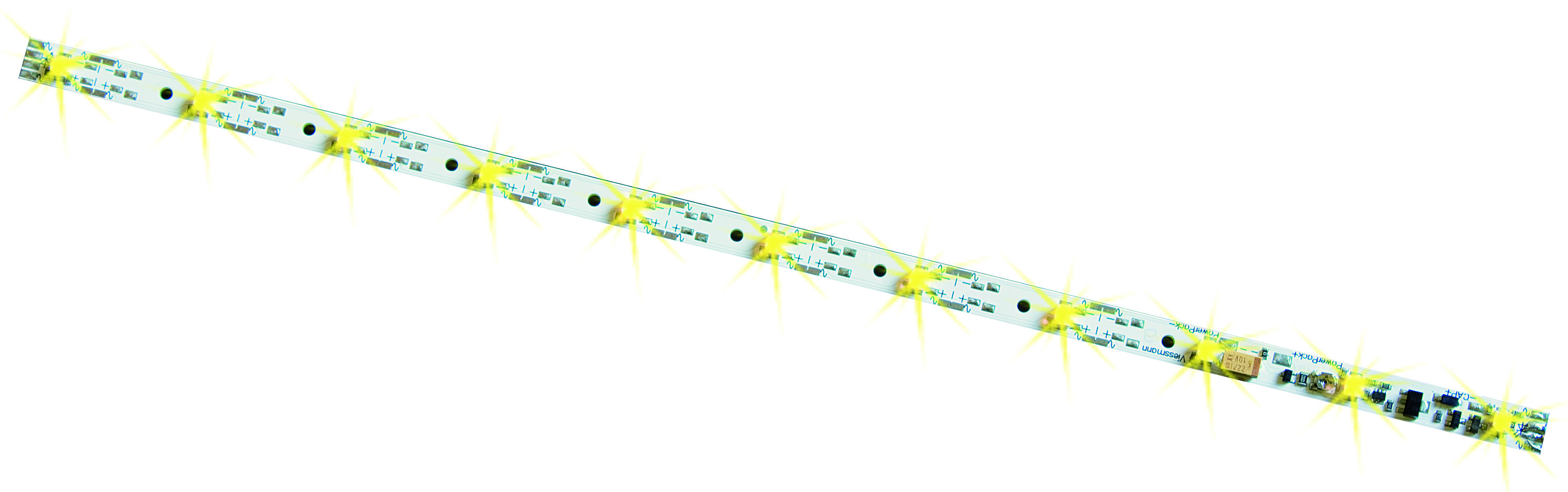 Viessmann 5076 H0 Waggon-Innenbeleuchtung, 11 LEDs gelb, mit Funktionsdecoder