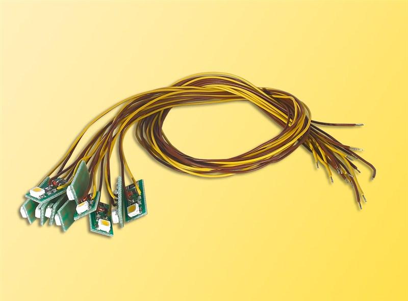 Viessmann 6007 10 x H0 Hausbeleuchtung LED gelb