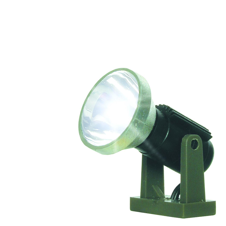 6330 Viessmann H0 Flutlichtstrahler nieder mit LED weiß