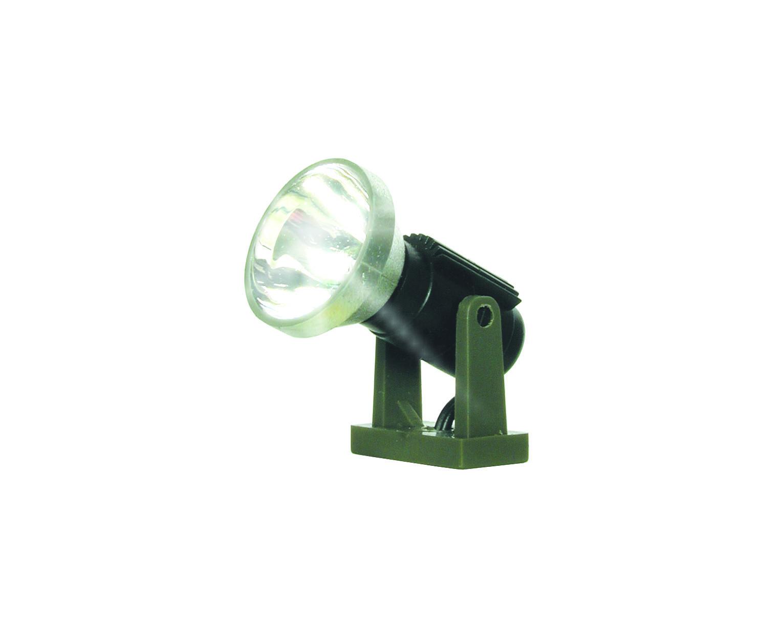 Viessmann 9330 Spur 0 Flutlichtstrahler nieder, LED weiß