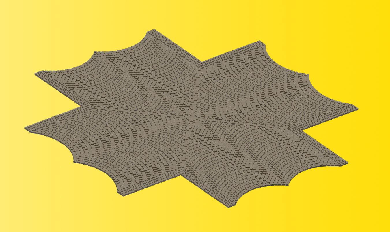 Vollmer 48241 H0 Straßenplatte Kopfsteinpflaster