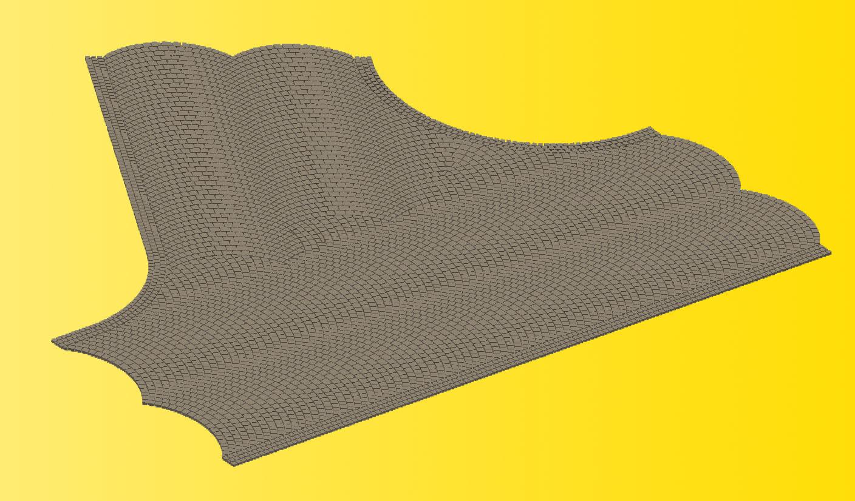 Vollmer 48242 H0 Straßenplatte Kopfsteinpflaster Einmündung